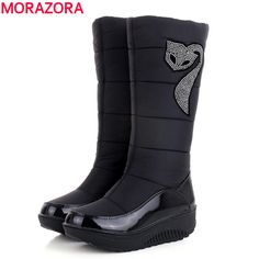 Plus size 35-44 Hot 2016 new Women Winter Boots warm Cotton Down shoes waterproof boots snow boots fur platform knee high boots