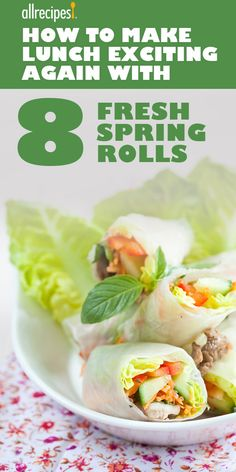 This is perhaps the best change I've ever made. Low-cal, low-carb spring rolls are an easy make-ahead lunch. Lunch Recipes, Paleo Recipes, Low Carb Recipes, Great Recipes, Cooking Recipes, Healthy Food List, Healthy Eating, Healthy Rolls, Fresh Spring Rolls