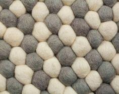Felt Ball Rug, Natural Materials, Bath Mat, Rugs, Instagram Posts, Home Decor, Bedroom, Felting, Farmhouse Rugs