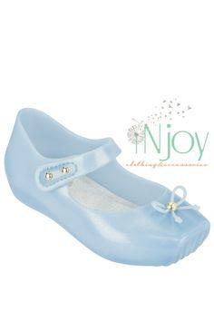 Mini Melissa Ballet Blue Flat Shoe #balletshoe #minimelissa