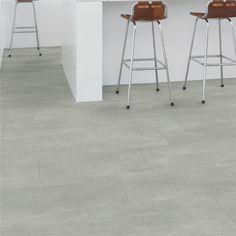 Lames PVC Quick Step Livyn Ambient Click plus, béton gris chaleureux Grey Vinyl Flooring, Sol Pvc, Luxury Flooring, Pvc Vinyl, Home Projects, Bar Stools, Tile Floor, Furniture, Home Decor