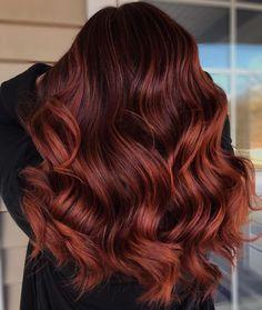Auburn Hair Dye, Light Auburn Hair Color, Brown Auburn Hair, Auburn Hair Colors, Long Auburn Hair, Highlights For Auburn Hair, Red Hair On Brown Skin, Natural Dark Red Hair, Reddish Hair Color