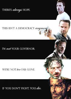 Rick Grimes, a great actor from The Walking Dead. Walking Dead Quotes, Walking Dead Funny, Fear The Walking Dead, The Walking Dead Tattoos, Carl Grimes, Wattpad, Andrew Lincoln, Daryl Dixon, Zombie Apocalypse