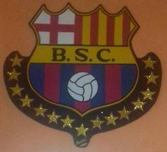 Lindo escudo de Barcelona Sporting Club hecho en foami Club, Manualidades, Facts, Cute