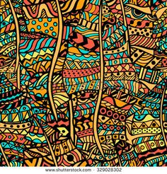 Find Colored Artistically Ethnic Pattern Handdrawn Ethnic stock images in HD and millions of other royalty-free stock photos, illustrations and vectors in the Shutterstock collection. Pattern Images, Pattern Art, Ethnic Patterns, Textures Patterns, Illustrations, Illustration Art, Afrique Art, Silhouette Painting, African Textiles