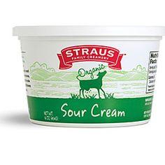 Straus family farming organic sour cream