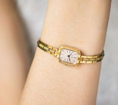 Gold plated woman watch bracelet lady's watch Ray by SovietEra