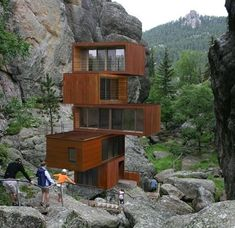 ▷ 64 + ideas on modern and cheap container house - Container häuser - Architecture Building A Container Home, Container Buildings, Container Architecture, Container Houses, Architecture Design, Amazing Architecture, Natural Architecture, Classical Architecture, Scandinavia Design