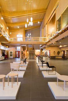 Sellas hall, exhibition space, wood architecture, public space, public interior
