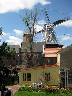 Visit the adorable Historical Village in #Pella, #Iowa. Twenty-four buildings surround a courtyard with red brick walkways, blossoming trees, and beautiful tulip gardens. Some of the buildings have been on the site for more than 150 years; others were moved in and restored.