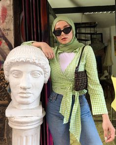 And Now, the Prettiest Vacation Outfits I've Seen All Summer Hijab Fashion Summer, Modest Fashion Hijab, Modern Hijab Fashion, Street Hijab Fashion, Casual Hijab Outfit, Muslim Fashion, Modest Outfits, Look Fashion, Modesty Fashion