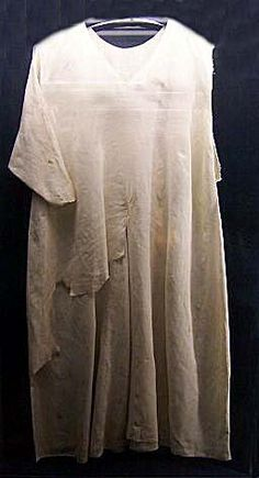 Shirt of St. Luis - from 13th century is shown in Notre Dame Cathedral Treasury, Paris. Photo Hribova