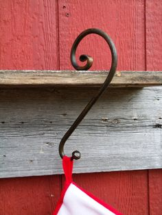 Christmas Stocking Hanger...Ball and Scroll End – Furnace Brook Iron Works