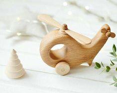 Helicóptero madera, juguete de madera del bebé, juguete Eco amigable, Todder juguete, juguete, madera, para bebe, regalo para un niño, juguetes tóxicos, orgánico madera