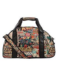 HOTTOPIC.COM - Marvel Comic Collage Gym Bag