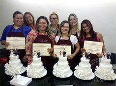 Final de mais um curso de bolo de casamento! Parabéns as minhas alunas!