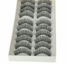 10 pairs Black Long Thick False Eyelashes 👀 ✔Sale  - False eyelashes 🚫 no trades 🚫 all sales are final (brand new never used ) Makeup False Eyelashes