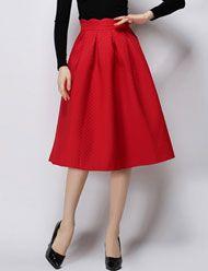 Laconic Scallop Edge Pleated Trim Skirt