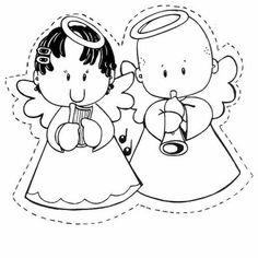 Moldes de Anjinhos para o Natal | Pra Gente Miúda