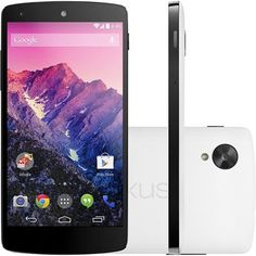 "Smartphone LG D821 Nexus 5, 4G Android 4.4 Quad Core 2.26GHz 16GB Câmera 8MP Tela 5"", Branco - Shopfato"