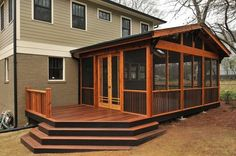 wrought iron corner support screened porch - Google Search