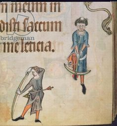 Great inspiration for an Azure Archer!!! Detail from Psalm 29, Lutrell Psalter