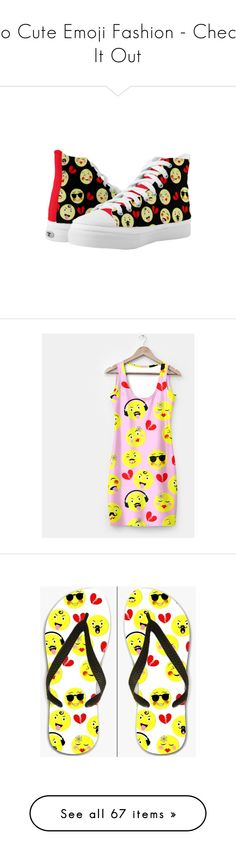 """So Cute Emoji Fashion - Check It Out"" by flisty ❤ liked on Polyvore featuring interior, interiors, interior design, home, home decor, interior decorating, shoes, bright colored shoes, bright shoes and dresses"