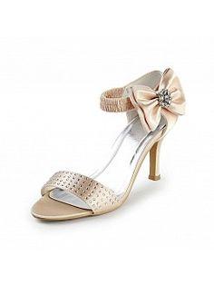 Szatén nyílt lábujjak szandálok menyasszonyi cipők vel strassz hx140067 - HUF 19733,68Ft
