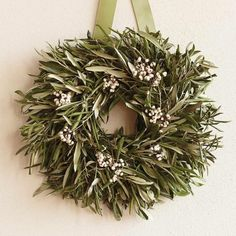 Tallow Berry & Olive Leaf Wreath