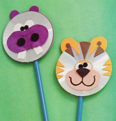 Fun Activities: Old CD Animal Crafts for Kids - Kids Art & Craft Kids Crafts, Animal Crafts For Kids, Craft Projects For Kids, Easy Crafts, Art For Kids, Arts And Crafts, Craft Ideas, Kids Fun, Kindergarten Crafts