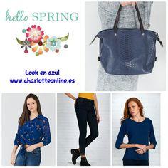 Azul  Entra en nuestra web y elige tu look preferido www.charlotteonline.es