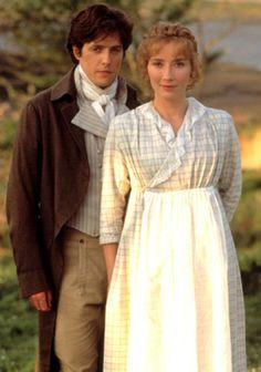 Jane Austen's Sense & Sensibility. Edward Ferrars (Hugh Grant) and Elinor Dashwood (fantastic Emma Thomson!).
