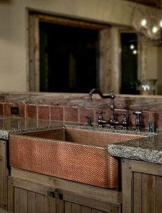 I have found the copper farmer's sink of my dreams.