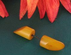 Genuine Orange Yellow Bakelite Vintage by vintagejewelrylane, $27.99