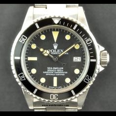 Rolex S/S Oyster Perpetual Great White Sea-Dweller 1665  http://www.watchcentre.com/product/rolex-s-s-oyster-perpetual-great-white-sea-dweller-1665/1350