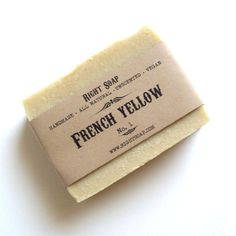 French Yellow Soap  Detox Natural Handmade Unscented by RightSoap, $6.00