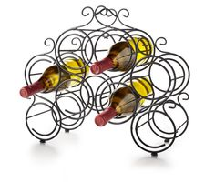 Display your favorite vintages with the 8-Bottle Metal Wine Rack from Pier 1 (=)