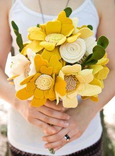 Bouquet from felt