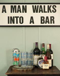 Right wording over a bar....so fun