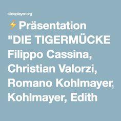 """⚡Präsentation """"DIE TIGERMÜCKE Filippo Cassina, Christian Valorzi, Romano Kohlmayer, Edith Bucher Biologisches Labor, Landesagentur für Umwelt 2014."""""""