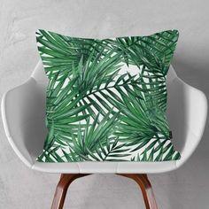 PODUSZKA DARK GREEN LEAVES Green Leaves, Throw Pillows, Color, Home, Toss Pillows, Cushions, Colour, Ad Home, Decorative Pillows