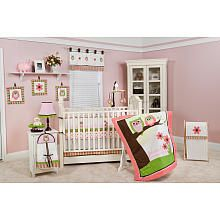 Comely Ideas For Light Pink Baby Bedding Design Decoration : Elegant Ideas For Light Pink Baby Bedding Design Nursery Room Decoration Using White Wooden Baby Crib Also White Shade Table Lamp And White Wooden Storage Purple Crib Bedding Sets, Owl Baby Rooms, Baby Owl Nursery, Baby Crib Bedding Sets, Nursery Bedding, Baby Cribs, Nursery Ideas, Room Ideas, Girl Nursery