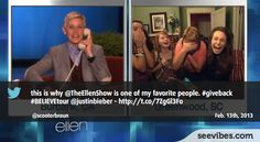 February 13th 2013: Find out why fans love watching The Ellen Degeneres Show, and it's creating waves on Twitter in Canada - #Seevibes #TopRetweet #Twitter #EllenDegeneres - https://twitter.com/scooterbraun/status/301796841765343232