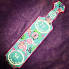 #Sorority #Greek #Paddle #OmegaPhiAlpha #SororityCrafts #BigLil #Cute