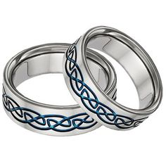 Celtic Wedding Rings and tying the Knot Celtic Wedding Bands, Wedding Band Sets, Wedding Rings, Titanium Jewelry, Celtic Designs, Celtic Knot, Rings For Men, Bling, Irish