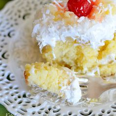 If you like piña coladas...you should spike a cake with them.  Get the recipe from Kitchen meets Girl.   - Delish.com