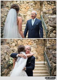Wedding Poses First look with bride's Dad at wedding / Beautiful moments at weddings / Omni Grove Park Inn Wedding / Luxury Wedding / Mountain Wedding/ Asheville Wedding / Photo by: Mozingo Photography / Planning by Verge Events Wedding Picture Poses, Wedding Poses, Wedding Family Photos, Wedding Ideas, Wedding Ceremony, Country Wedding Photos, Wedding Venues, Wedding Services, Bride Poses