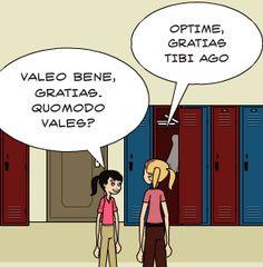 VALEO BENE, GRATIAS. QUOMODO VALES?   OPTIME, GRATIAS TIBI AGO Latin Grammar, Teaching Latin, Latin Language, Latin Phrases, Home Schooling, Languages, Latina, Classroom Ideas, Homeschool