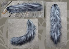 """This is a commission for a client who wanted a black, white and shades of gray version of my """"oasis"""" yarn tail. This tail turned out with lovely hues and is very soft. The movement is great and is ..."""
