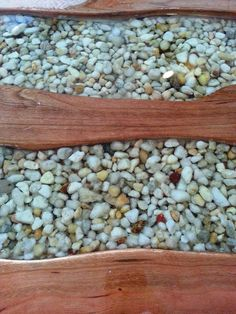 River bend table, 06/29/14. Cherry wood,  hemlock, river stones, epoxy